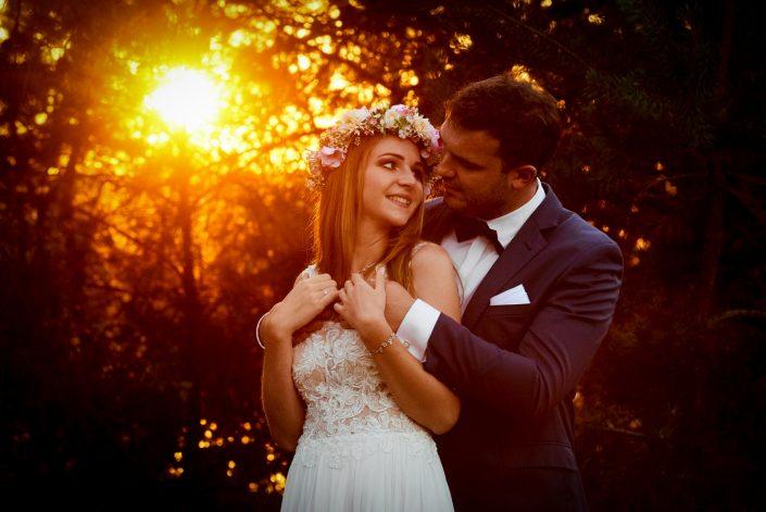 Plener Ślubny o zachodzie słońca.
